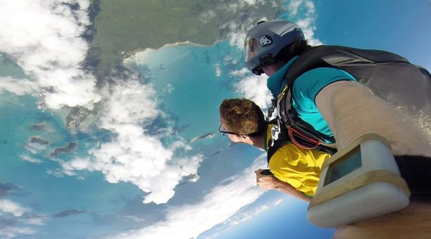 Skydive Airlie Beach with an amazing view of the Whitsunday Islands