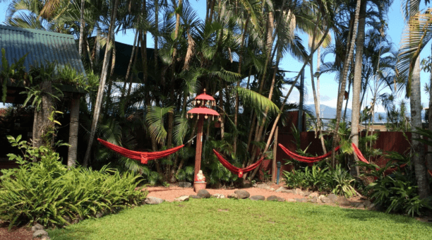 Chill out in the hammocks
